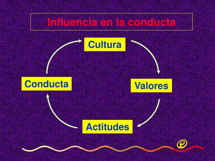 Influencia en la conducta