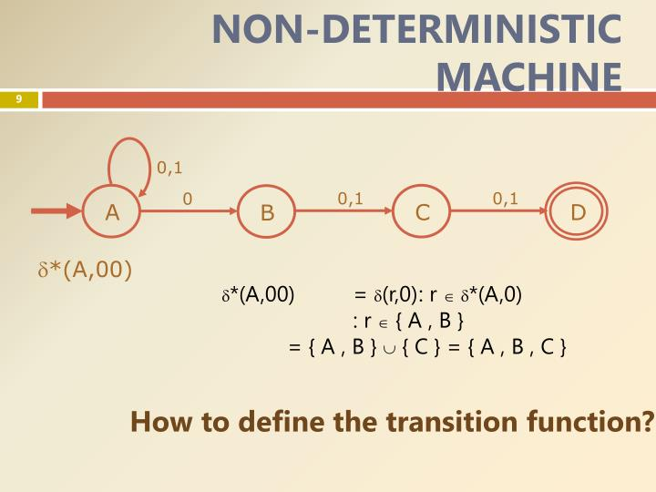 NON-DETERMINISTIC MACHINE