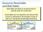 accounts receivable and bad debts1