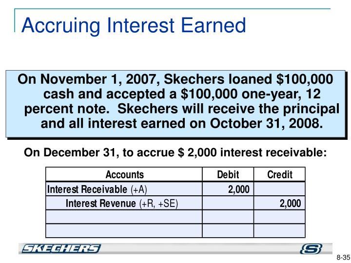 Accruing Interest Earned