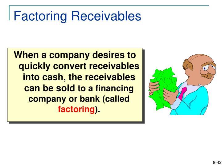Factoring Receivables