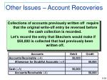 other issues account recoveries