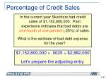 percentage of credit sales2
