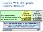 remove write off specific customer balances4
