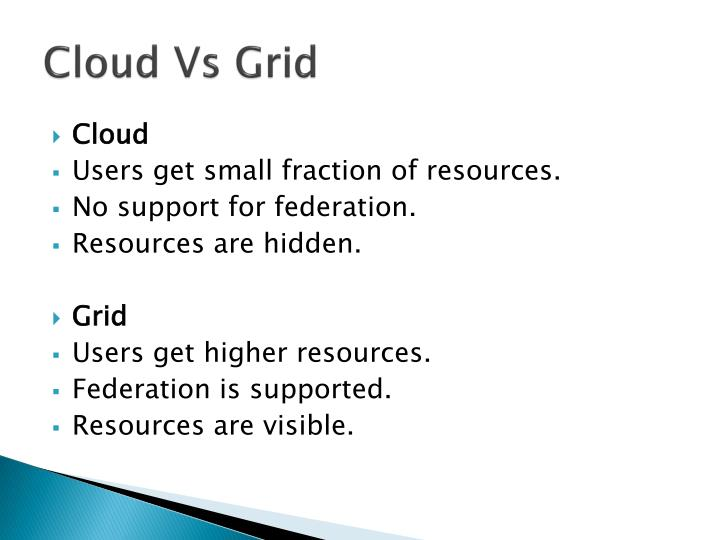Cloud vs grid