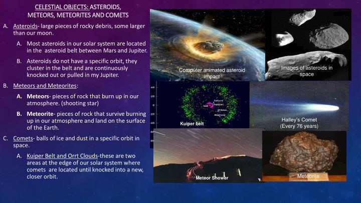 Celestial Objects: