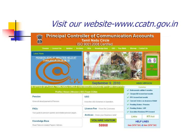 Visit our website-www.ccatn.gov.in