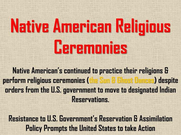 Native American Religious Ceremonies