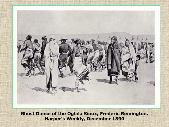 Ghost Dance of the Oglala Sioux, Frederic Remington,