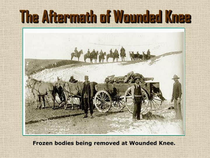 The Aftermath of Wounded Knee