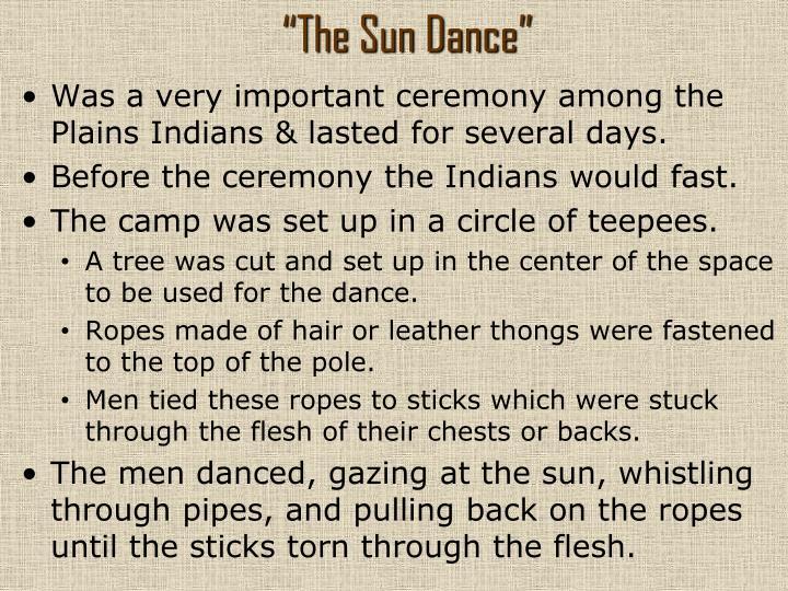 """""""The Sun Dance"""""""