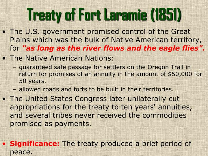 Treaty of Fort Laramie (1851)