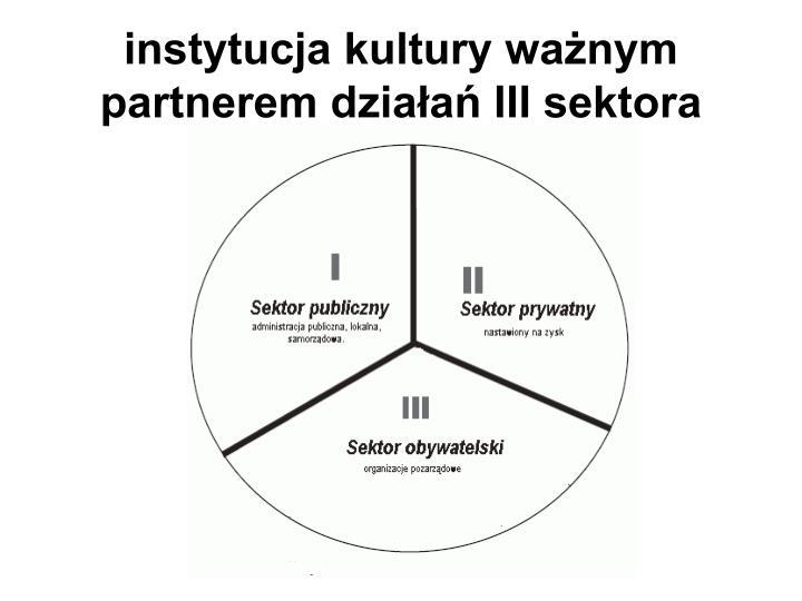 instytucja kultury ważnym partnerem działań III sektora