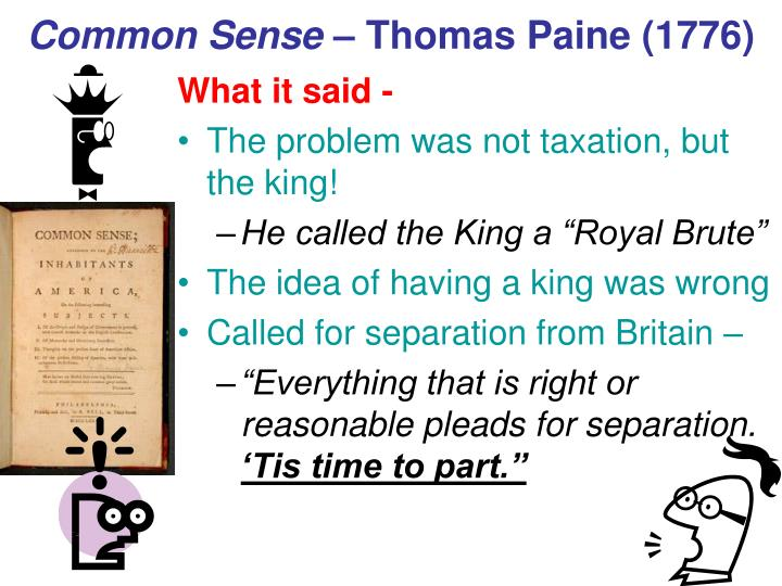 common sense summary 'common sense' and the american revolution by harvey kaye by harvey kaye harvey kaye is the ben and joyce rosenberg professor of social change and development at.