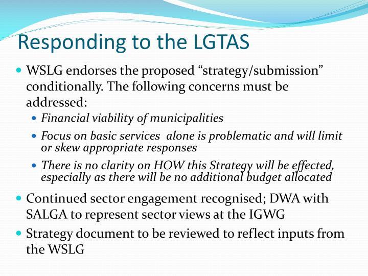 Responding to the LGTAS