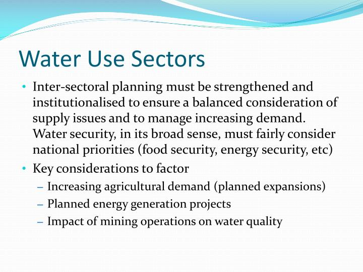Water Use Sectors