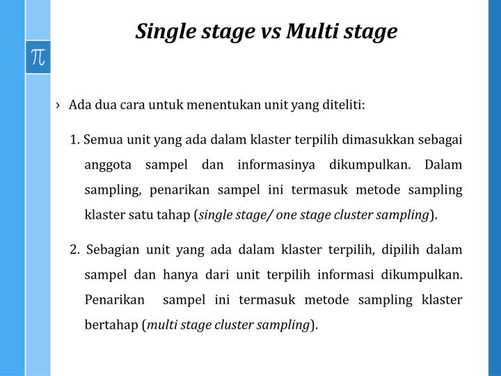 Single stage