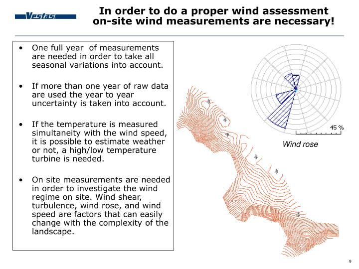 In order to do a proper wind assessment