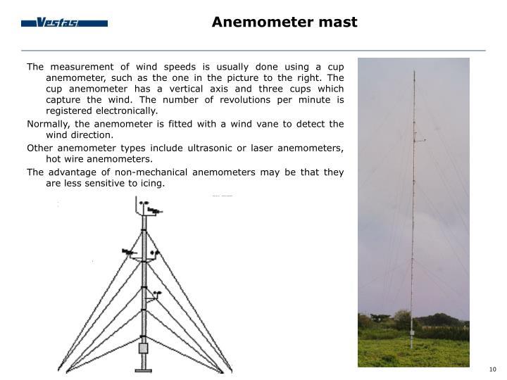 Anemometer mast