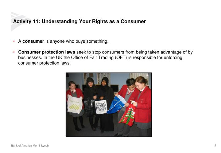 Activity 11: Understanding Your Rights as a Consumer