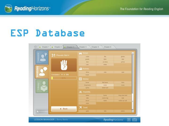 ESP Database