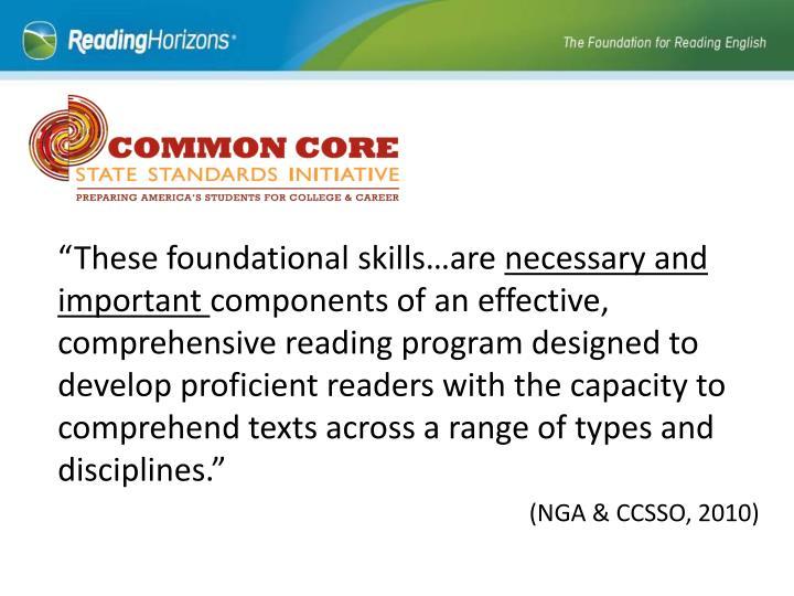 Foundational Skills