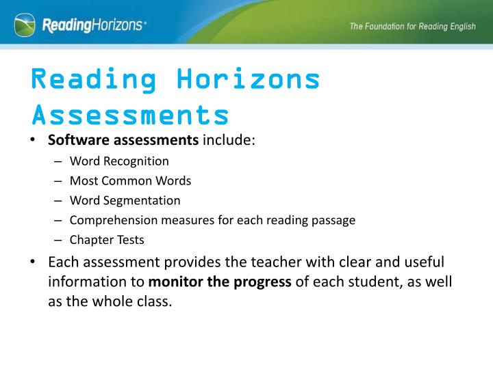 Reading Horizons Assessments