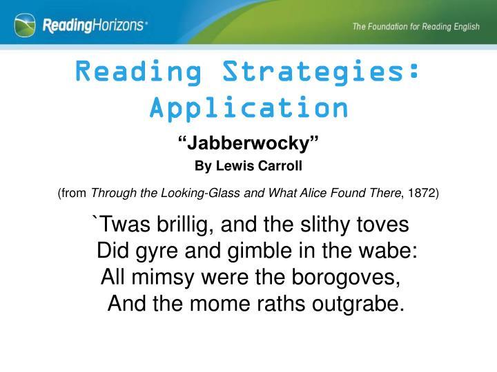 Reading Strategies: Application