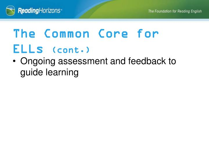 The Common Core for ELLs