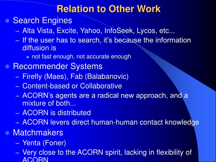 Relation to Other Work