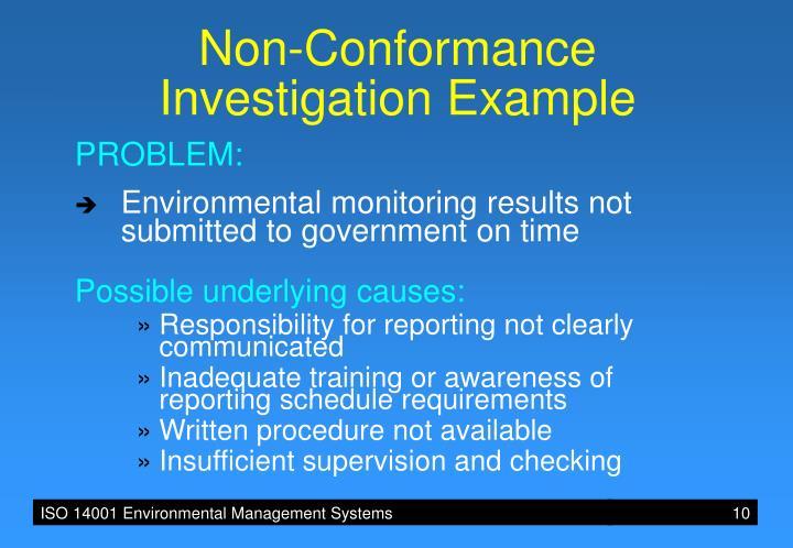 Non-Conformance
