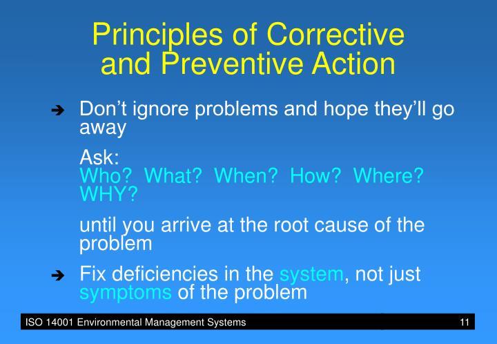 Principles of Corrective