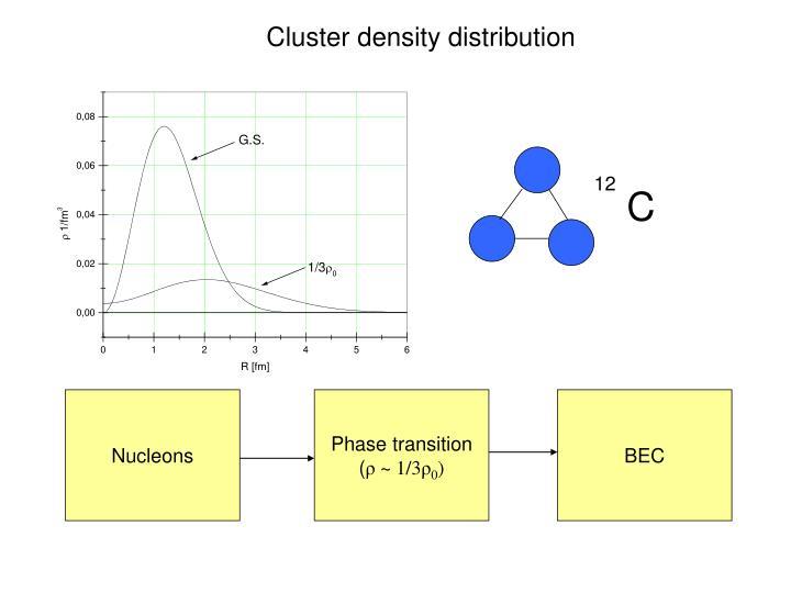 Cluster density distribution