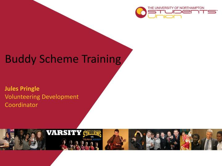 Buddy scheme training
