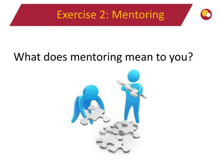 Exercise 2: Mentoring