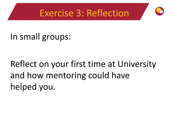 Exercise 3: Reflection