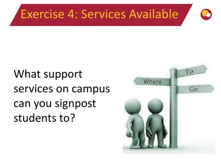 Exercise 4: Services Available