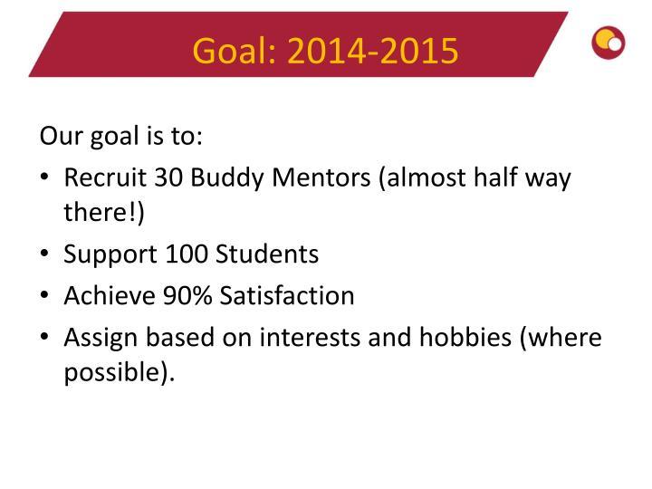 Goal: 2014-2015