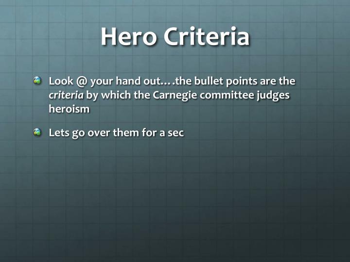 Hero Criteria