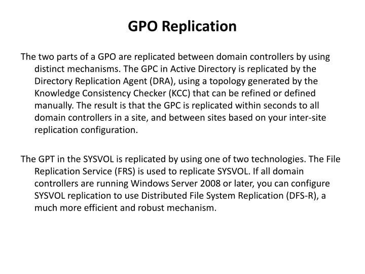 GPO Replication