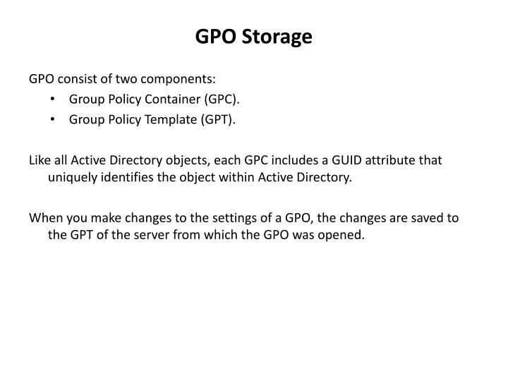 GPO Storage