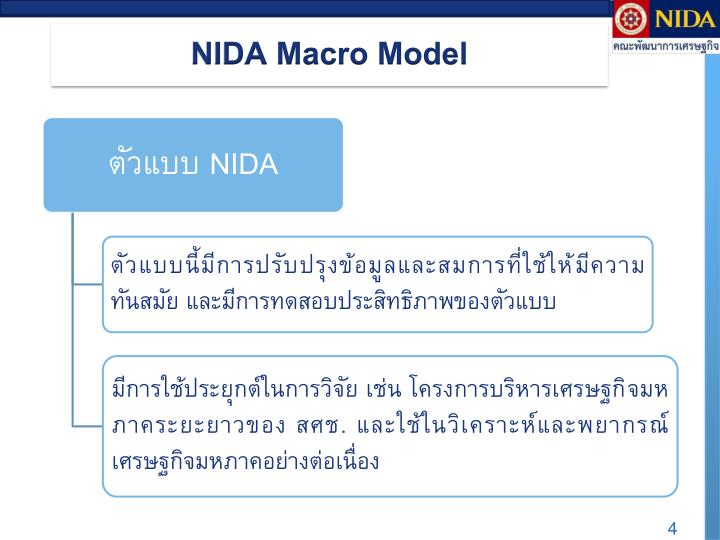 NIDA Macro Model