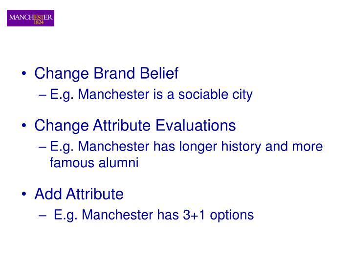 Change Brand Belief
