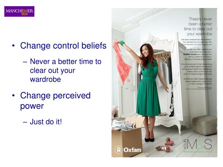 Change control beliefs