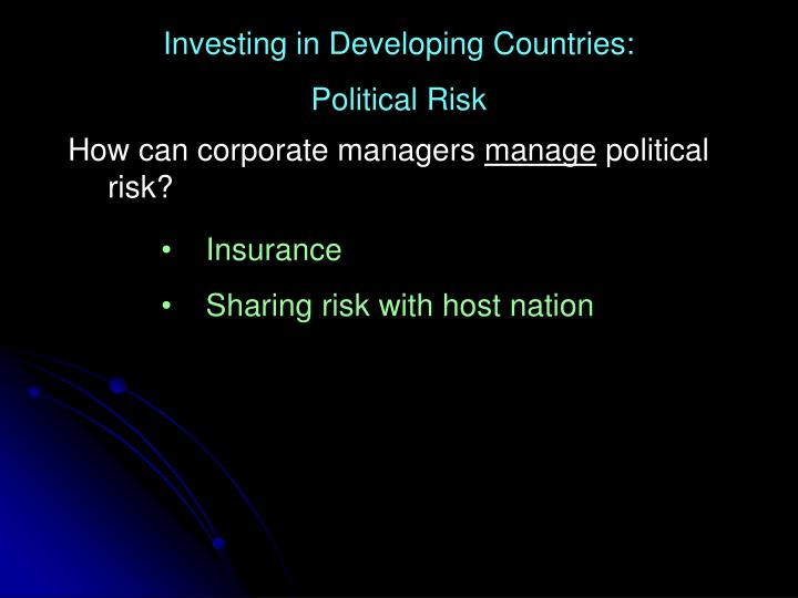 Investing in Developing Countries:
