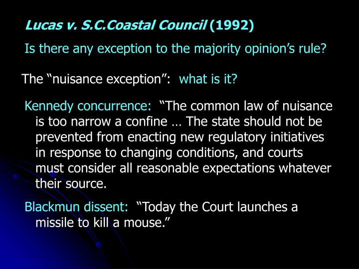 Lucas v. S.C.Coastal Council