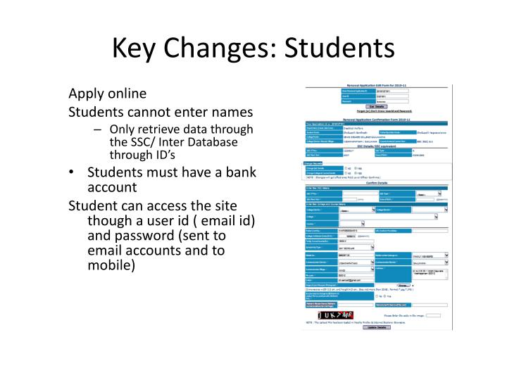 Key Changes: Students
