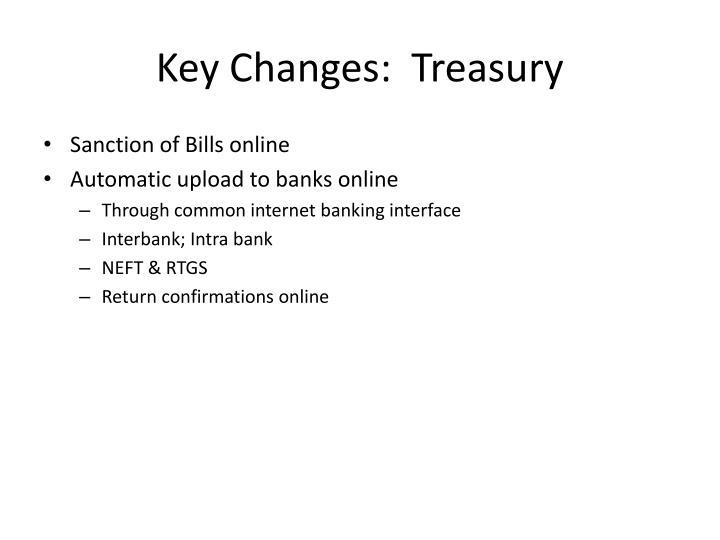 Key Changes:  Treasury