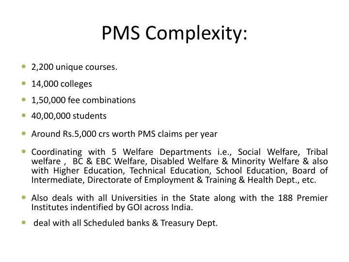 PMS Complexity:
