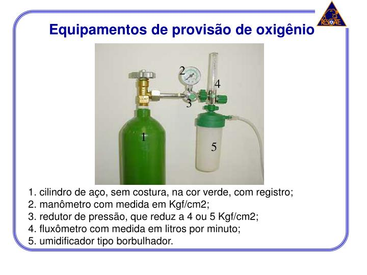 Equipamentos de provisão de oxigênio